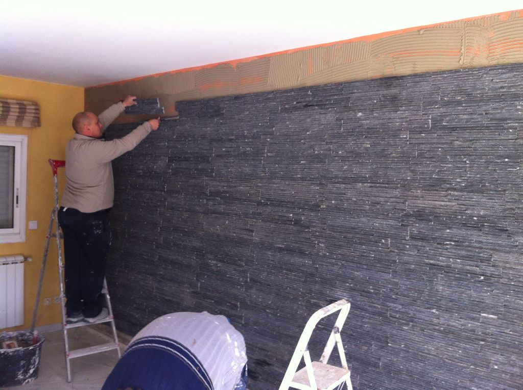 Pierres de parement mur int rieur dfc les artisans de la construction 34 h rault - Pierre de parement interieur ...